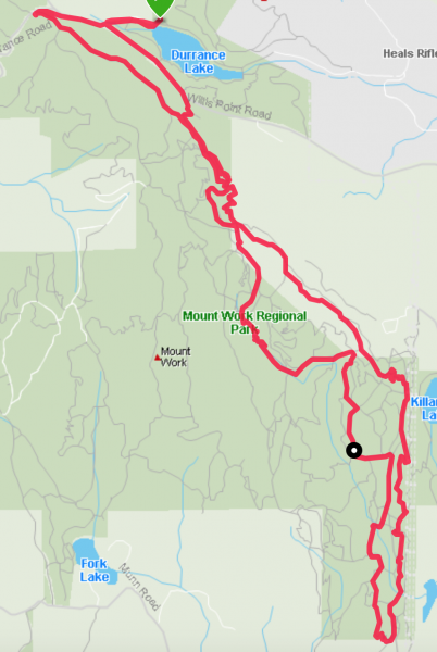 XTERRA Victoria bike course map